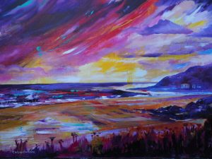"""Dawn at Portscatho"" acrylic on canvas 40"" x 30"" smaller prints available"