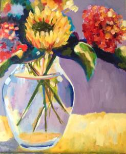 posy in a glass vase (web)