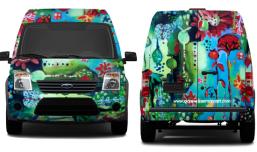 Van design front and back
