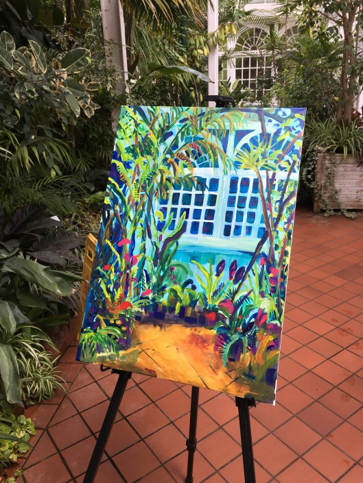 painting in West Park conservatory
