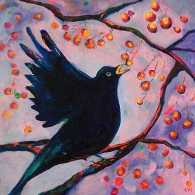 Berry Feast (Blackbird)