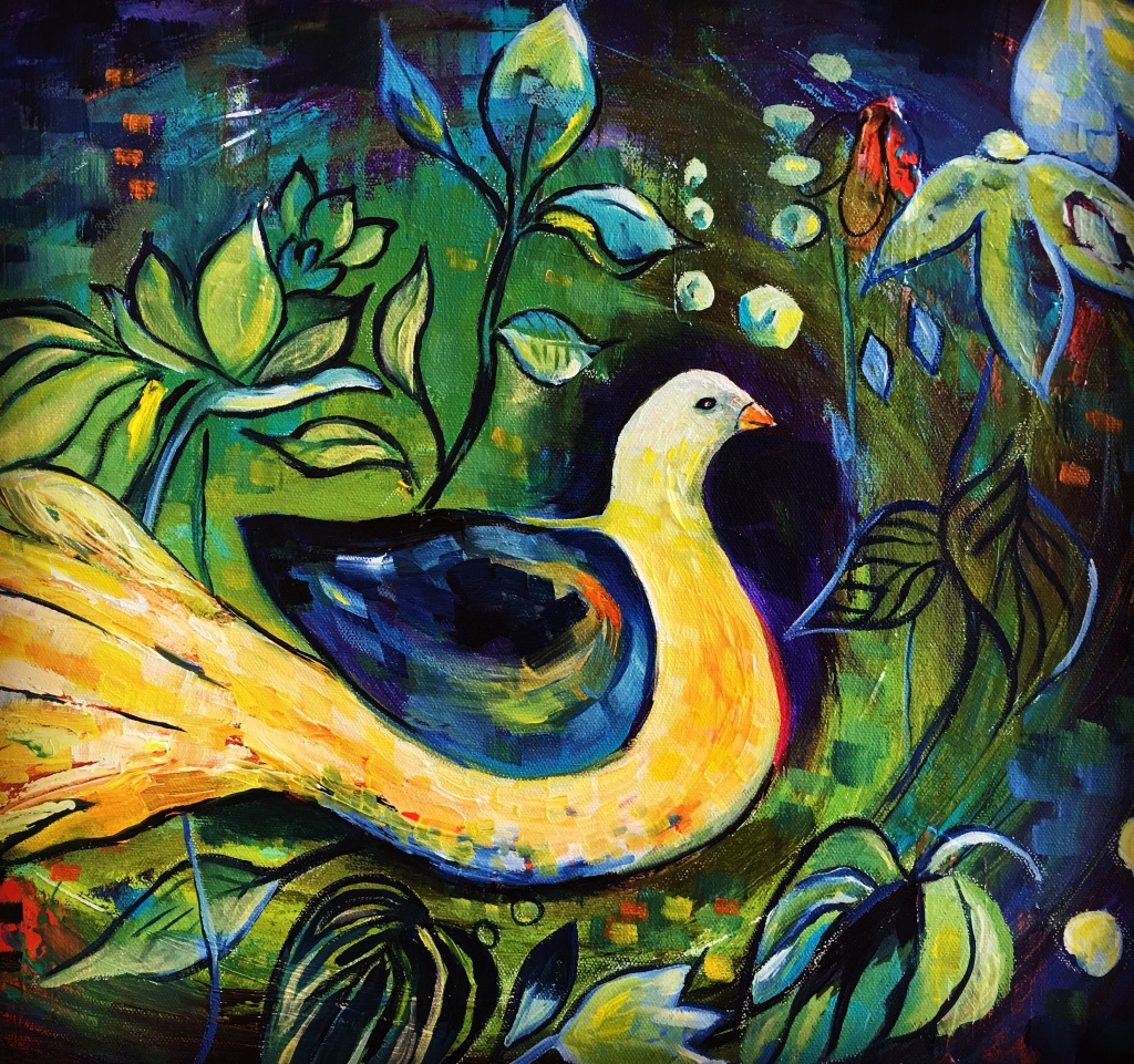 Dove of Peace - a symbol for Syria - oil on canvas
