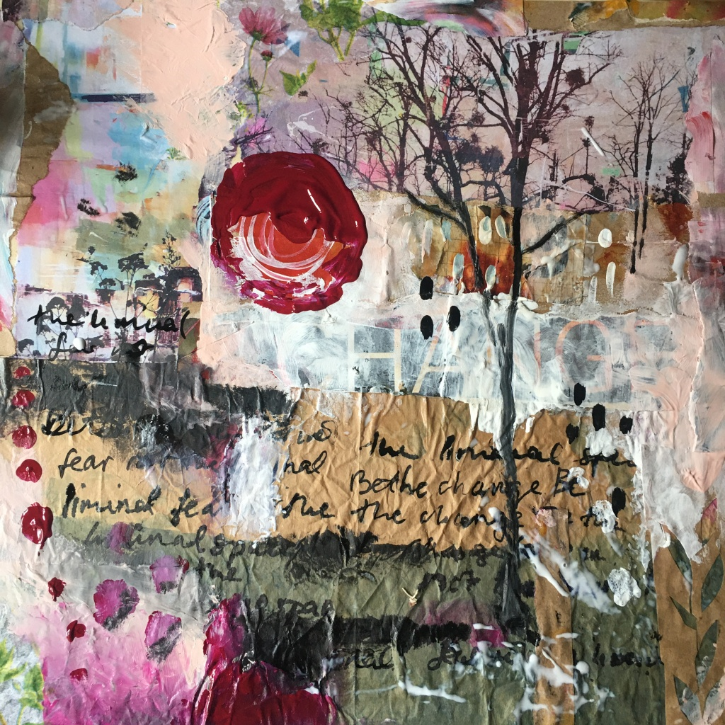 Collage made to think and participate in art challenge at University of Wolverhampton
